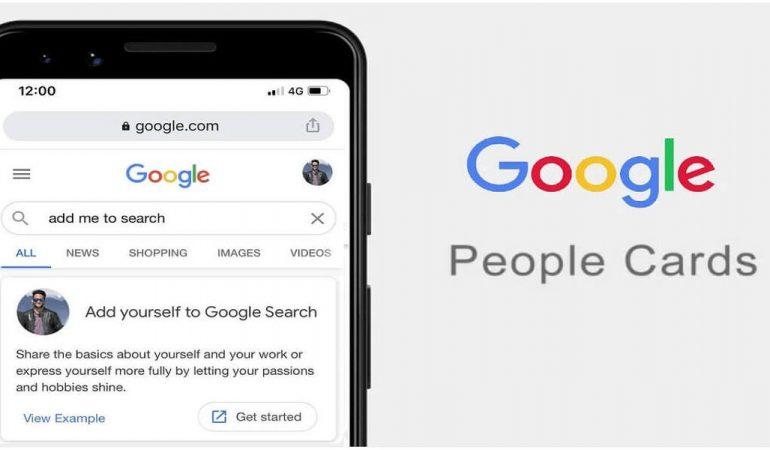 Cartes de visite virtuelles Google